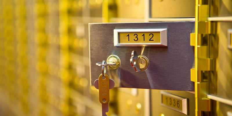 safety deposit boxes Belfast